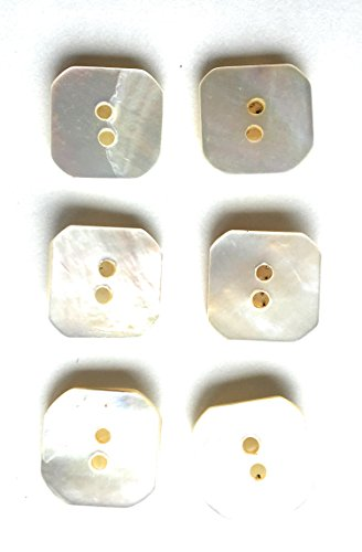 Premium New 6 Hexagon White Genuine Mother of Pearl Blazer & Suits Button Set For Blazer, Sport Coat, Uniform, Jacket 3/4 ()