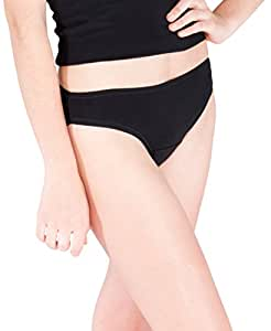 Simple Necessit-Ease Bff Period Undies Panties with Comfort Fit Design, Black, X-Small