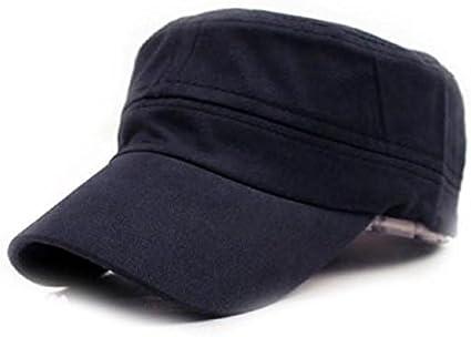 KIODS Chapeau Coton Femmes Hommes Casquette R/églable Unisexe Solide Casquettes de Baseball Classique Plaine Vintage Voyage Sport///Militaire Cadet Chapeau