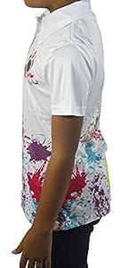 Girls Golf Golf Ball Paint Splatter Polo Shirt
