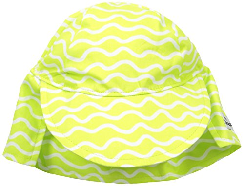 Flap Happy Girls' UPF 50+ Original Flap Hat, Lime Twist, -