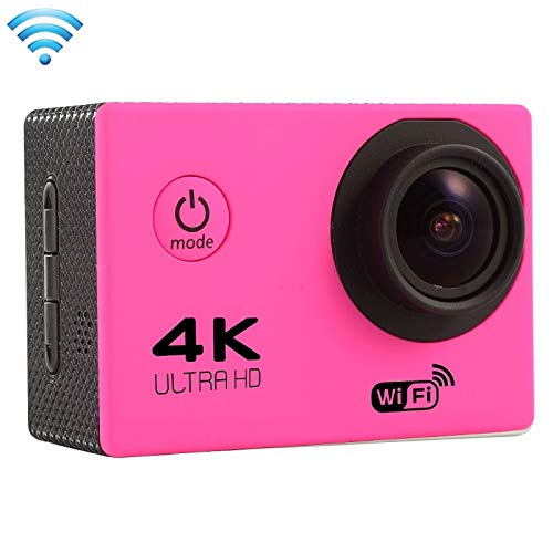 (#33) F60 2.0 inch Screen 4K 170 Degrees Wide Angle WiFi Sport Action Camera Camcorder with Waterproof Housing Case, Support 64GB Micro SD Card(Magenta)