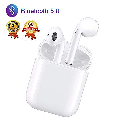 Wireless Bluetooth 5.0 Stereo Earphone Noise Cancelling Headphones IPX5 Sports Headphones Automatic Pairing Earbuds for Samsung iPhone Apple Airpod Airpods