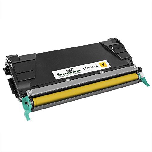 Lexmark Reman Toner (Speedy Inks - Remanufactured Lexmark C746A1YG Yellow Laser Toner Cartridge for use in C746DN, C746DTN, C748DE, C748DTE, & C748E)