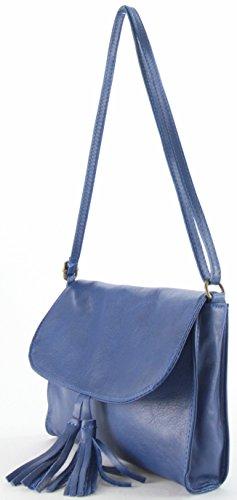 histoireDaccessoires - Mini bolso de cuero Mujer - SA000123GV-Dana Azul