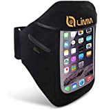 Limm Sport Armband for iPhone 6/6s and Samsung Galaxy S6/S5/S4 - Designed for Running & Working-Out in Comfort - For Men and Women