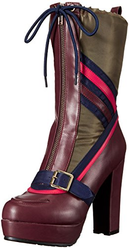 Luichiny Womens by The Way Ankle Bootie Wine/Army