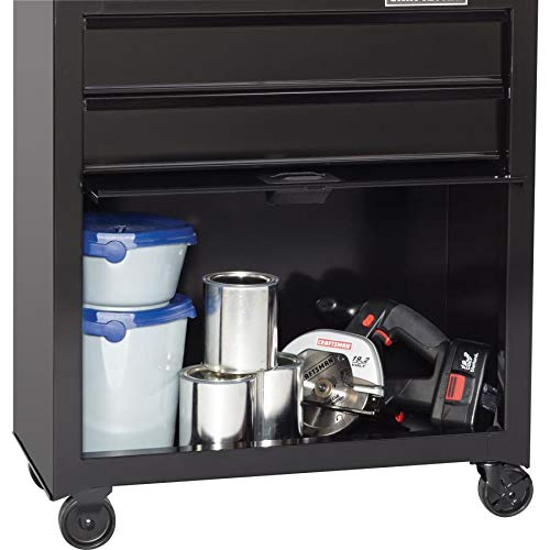 CRAFTSMAN 5-Drawer Ball-Bearing Steel Tool Chest Combo (Black) 1000 Series 26-in W x 44-in H by Craftsman (Image #6)