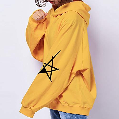Ailjwy Mujer Otoño Suéteres Con De Sudaderas Ailj Jerseys Amarillo 4 Terciopelo Y Capucha Para Colores Deportiva E Invierno 4xwrX4qnR7