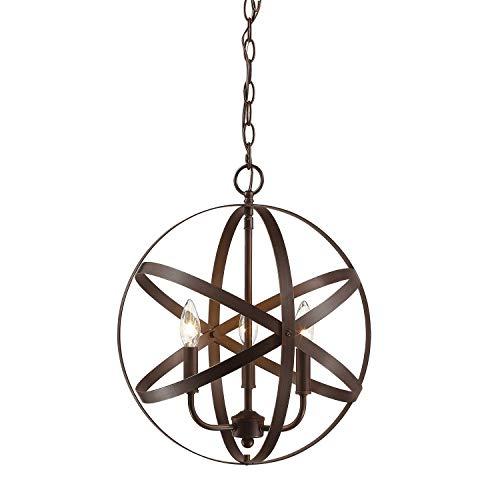 Millennium 3235-RBZ Three Light Pendant, Bronze/Dark