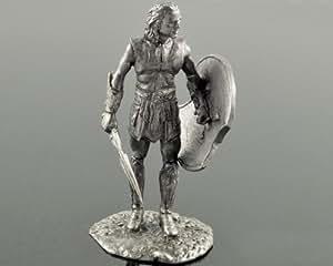 Soldados de estaño. Brad Pitt como Aquiles de Troya. Escultura de metal, estatua. Colección de 54mm de figuras militares.