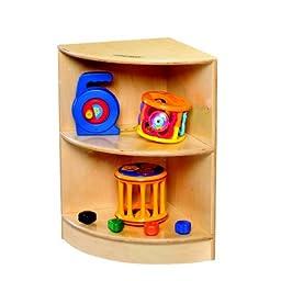 Childcraft 1429282 Toddler Outside Corner, Birch Veneer Panel, 4-Coat UV Acrylic, 24\