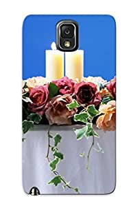 TRdJkQl701HgUVI Candles And Roses Fashion Tpu Case Cover For Galaxy Note 3, Series by lolosakes