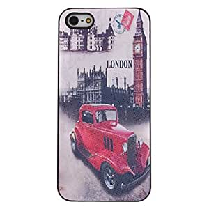 AES - Vintage Car Pattern PC Hard Case with Interior Matte for iPhone 5/5S