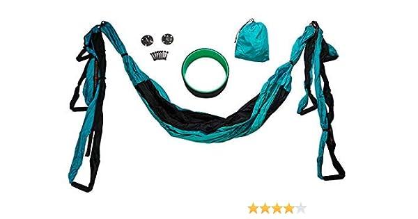 Amazon.com : Vorti Yoga Swing/Hammock and Yoga Wheel Set ...