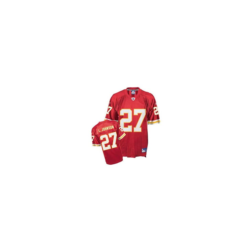 Larry Johnson #27 Kansas City Chiefs Youth Youth NFL Replica Player Jersey By Reebok (Team Color)