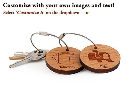 Sloth Keychain, Wood Twist Cable Keychain - Small -
