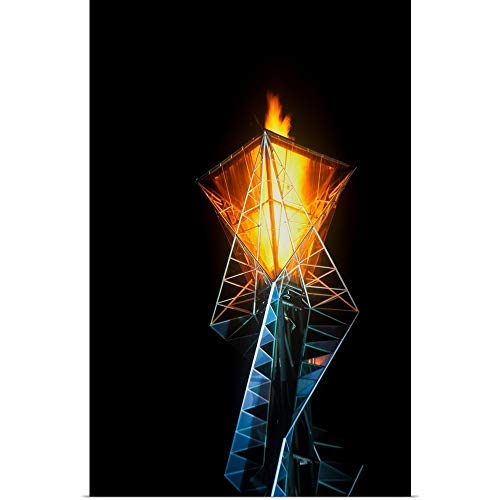 Great Big Canvas Poster Print Entitled Olympic Torch at Night During The 2002 Winter Olympics, Salt Lake City, UT by Panoramic Images 20
