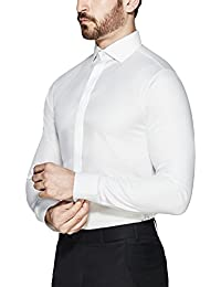 "<span class=""a-offscreen"">[Sponsored]</span>Men's Tech Slim Fit Carbon Fiber Texture Stain & Sweat Proof Shirt Columbus"