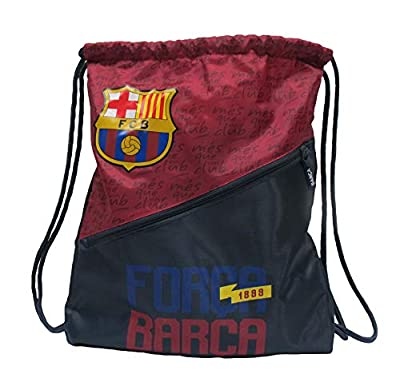 HKY Sportswear FC Barcelona Official Soccer Club Light Weight Multi-Use Drawstring Back Pack Cinch Bag