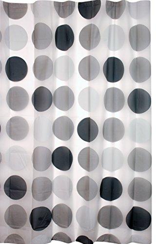 Kiera Grace Printed Peva Shower Curtain, 70-Inch by 72-Inch, Mod Circle