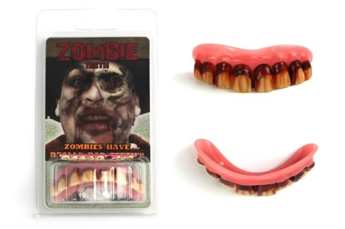 Zombie Teeth Adult, One-Size, Red ()