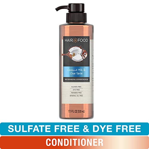 Sulfate Free Conditioner, Dye Free Nourishing Treatment, Coconut and Chai Spice, Hair Food, 17.9 FL OZ