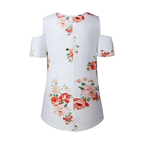 DINGANG - Camiseta - Rayas - para mujer blanco