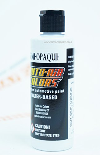 Createx Auto-Air Colors 4oz Semi-Opaque Brite White 4201 Custom Airbrush Paint. by SprayGunner ()