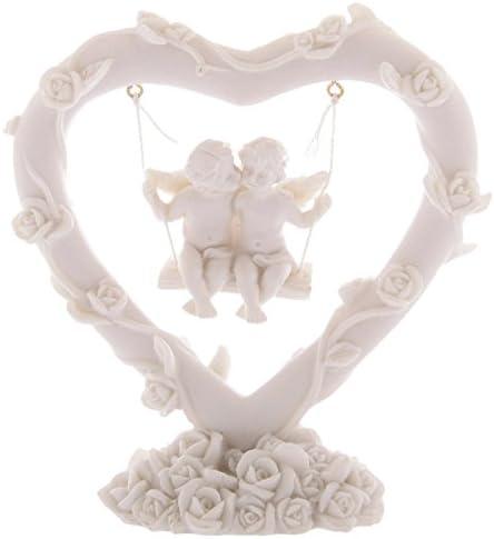 Birthday Christmas Gift present Ornament Stature Figure Swinging Rose Heart Love Cherubs