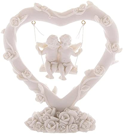 10 x 4 x 10,5 cm Blanc Puckator/ CHE75 Ange s Amoureux sur balan/çoire R/ésine