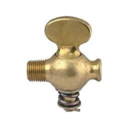 MACs Auto Parts 32-24553 Radiator Drain Cock - Original Type - Brass - Ford