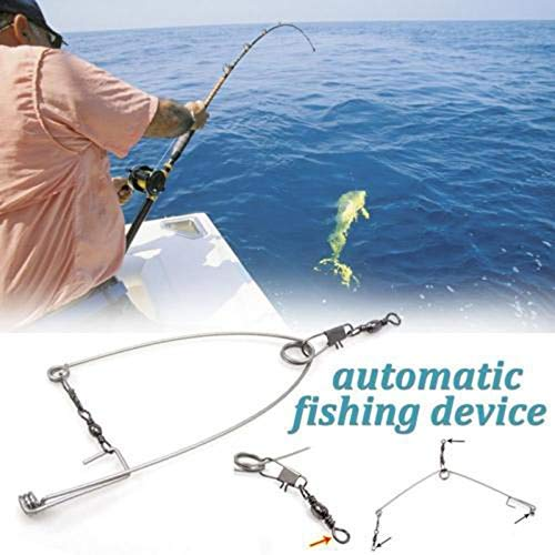 Fishyu 5Pcs Smart Kingfisher Stainless Steel Hook Trigger Spring Fishing Hook Setter Bait Bite Triggers The Hook Catch Fish Automatically