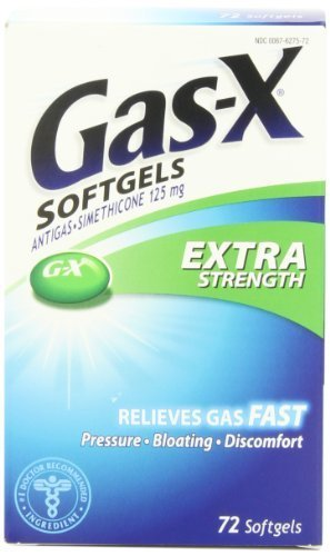 Gas-X Antigas, Extra Strength, 125 mg, 72 Softgels by Gas-X ...