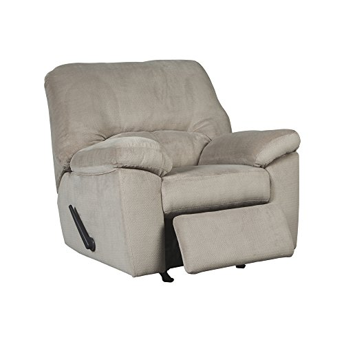 Ashley Furniture Signature Design – Dailey Rocker Recliner – Contemporary Chair – Alloy Beige For Sale