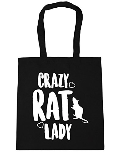 Bag lady Black HippoWarehouse litres x38cm Beach 10 42cm Gym rat Shopping Crazy Tote 40Exnqp7Ew
