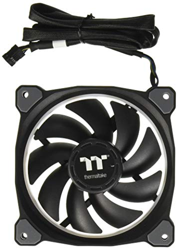 Thermaltake CL-F059-PL12SW-A Riing Plus 12 RGB TT Premium Edition 120mm Software Enabled Circular 12 Controllable LED RGB Riing Case/Radiator Fan - Single Pack