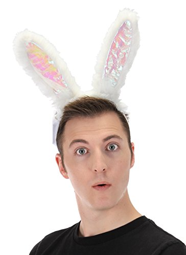 elope Light-Up White Rabbit Costume LumenEars