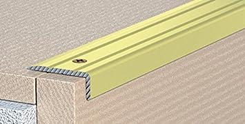 Perfil de cantos de escaleras para escalones de ángulo de escaleras – enroscado – 25 x 20 mm – de aluminio anodizado: Oro (C de 07): Amazon.es: Bricolaje y herramientas