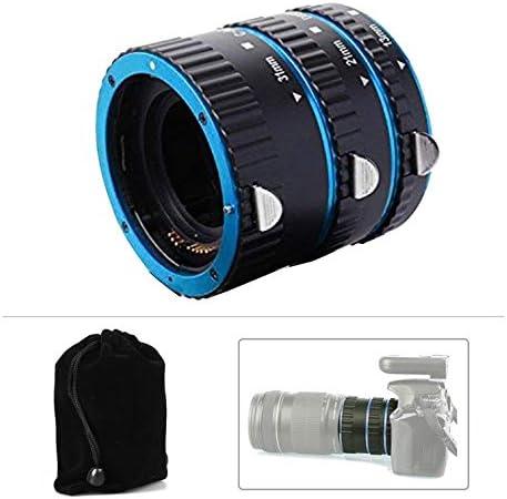 OUYAWEI Top Metal Mount Lens Adapter Auto Focus AF ro Extension Tube Ring for Canon EOS EF-S Lens 750D 80D 7D T6s 60D 7D 550D 5D Mark IV Blue