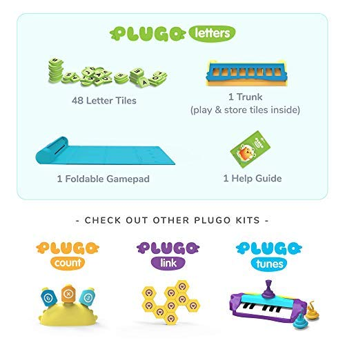 Plugo Letters by PlayShifu – Word Building with Phonics, Stories, Puzzles | 5-10 Years Educational STEM Toy…