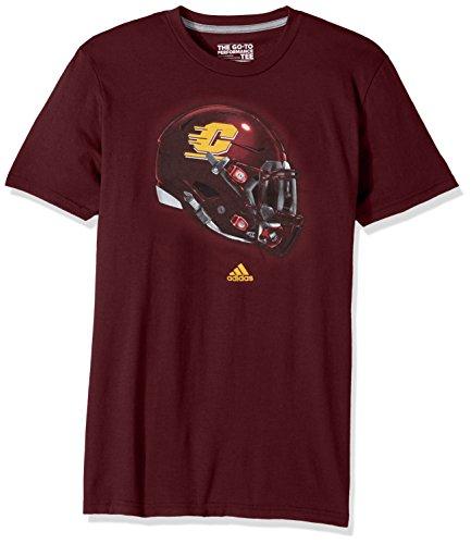 adidas NCAA Central Michigan Chippewas Men's 2017 Helmet Ultimate Short Sleeve Tee, X-Large, Maroon