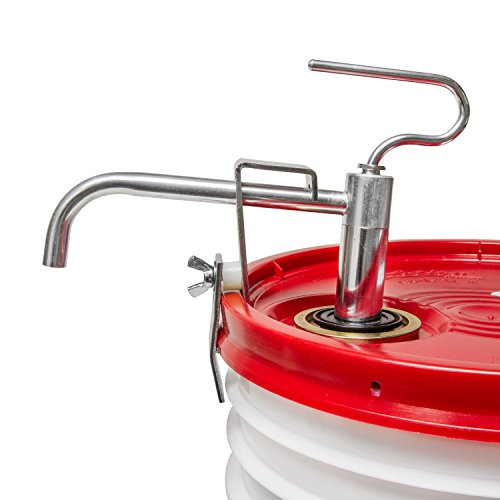 Pail Hand Pump (Heavy Duty 5 Gallon Pail Pump, Lever Action, Dispenses 5oz per Stroke)