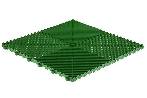 Swisstrax (A504.000.700-25 Ribtrax Modular Flooring Tile, Turf Green - (Pack of 25)