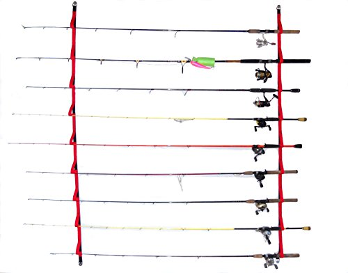 (Campingandkayaking Overhead or Wall Rod Storage System. Two Sizes to Choose From. 4ft Has 6 Rod Positions, 6 Ft Has 9 Rod Positions. (6 ft - 9)