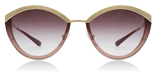 Prada PR07US 967094 Gold/Pink PR07US Oval Sunglasses Lens Category 2 Size -