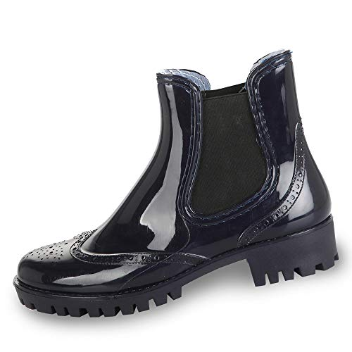 Blue Pth 0035 Women's Blue Boots 00 Buffalo PVC Ankle f0HAxn5wq