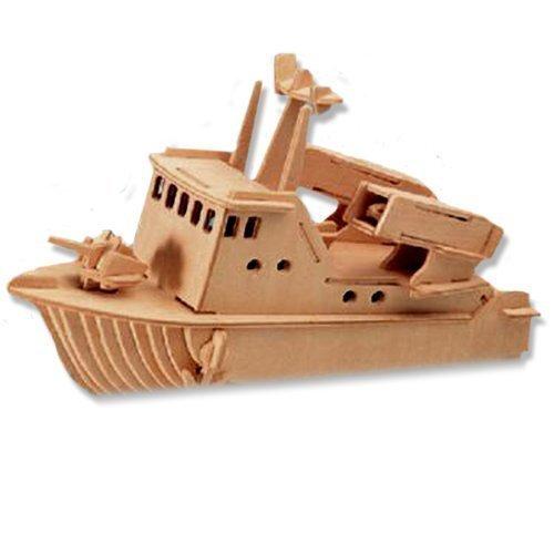 輝く高品質な 3 – dchi-wpz-p038 - D木製パズル – Missile。Item speed-boatモデル – Affordableギフトfor your Little One。Item # dchi-wpz-p038 B004QDXP7M, オウミハチマンシ:051bec2b --- quiltersinfo.yarnslave.com