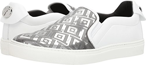 Versace Collection Men's Greca Slip-On White/Silver 41 M - Versace Collection First