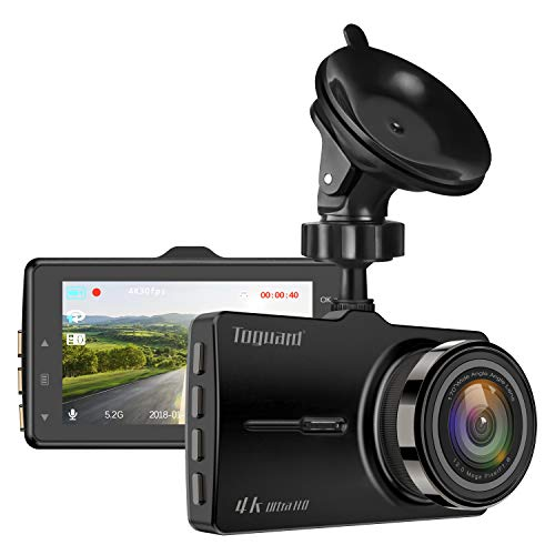TOGUARD Dash cam 4K UHD Car Dash Camera 3'' LCD Dashboard Camera with 170°Wide Angle, Super Night Vision, Parking Mode, Loop Recording Black